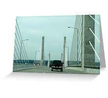 Golden Ears Bridge - Pitt Meadows to Langley, B.C. Greeting Card