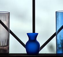 3 Vases In The Window by Bob Wall