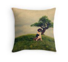 And so she waits... Throw Pillow
