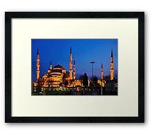The Blue Mosque & its 6 minarets Framed Print