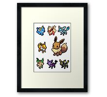 eeveelution sticker pack Framed Print