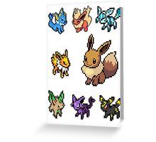 eeveelution sticker pack Greeting Card
