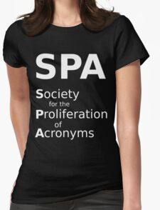SPA - White Lettering, Funny T-Shirt