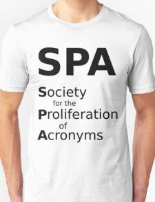 SPA - Black Lettering, Funny T-Shirt