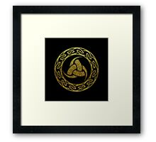 Triple Horn of Odin, Celtic Knot, Triforce, Odin Symbol Framed Print