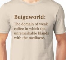 Beigeworld - Brown Lettering, Funny Unisex T-Shirt