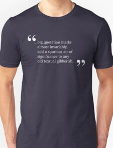 Spurious Significance - White Lettering, Funny T-Shirt