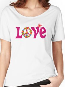 Love and Peace Women's Relaxed Fit T-Shirt