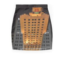 Skyscraper at night Mini Skirt