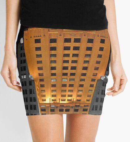 Skyscraper at night Mini Skirt
