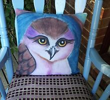Customer Photo: Owl on a Cushion by Fiona Lokot