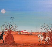 "Ned Kelly ""Showdown at the Bank""  Australia. Original for Sale Worldwide; SOLD by EJCairns"