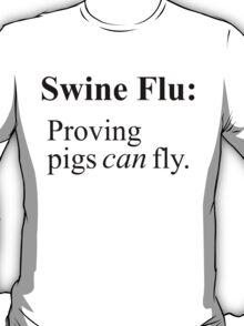 Swine Flew - Black Lettering, Funny T-Shirt