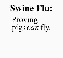 Swine Flew - Black Lettering, Funny Unisex T-Shirt