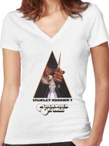 A Clockwork Orange Women's Fitted V-Neck T-Shirt