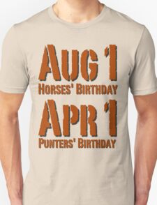 Punters' Birthday - Brown Lettering, Funny T-Shirt