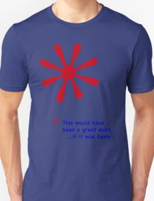 Footnote - Red & Blue Lettering, Funny Unisex T-Shirt