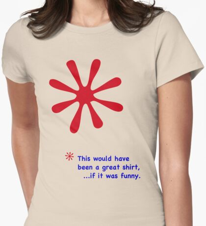 Footnote - Red & Blue Lettering, Funny Womens Fitted T-Shirt