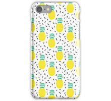 Pineapple fun modern minimal scandi design fresh fruit tropical island summer beach socal vegan iPhone Case/Skin