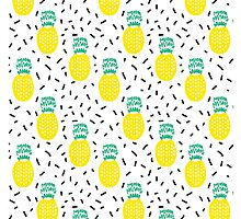 Pineapple fun modern minimal scandi design fresh fruit tropical island summer beach socal vegan by charlottewinter