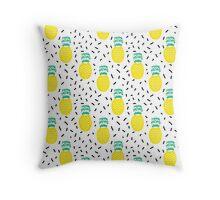 Pineapple fun modern minimal scandi design fresh fruit tropical island summer beach socal vegan Throw Pillow