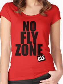 Cleveland Gladiators  - No FLY ZONE - CLE Women's Fitted Scoop T-Shirt