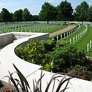 American WW2 Cemetery Cambridge, England by Mike Paget