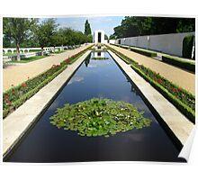 American WW2 Cemetery Cambridge, England  Poster