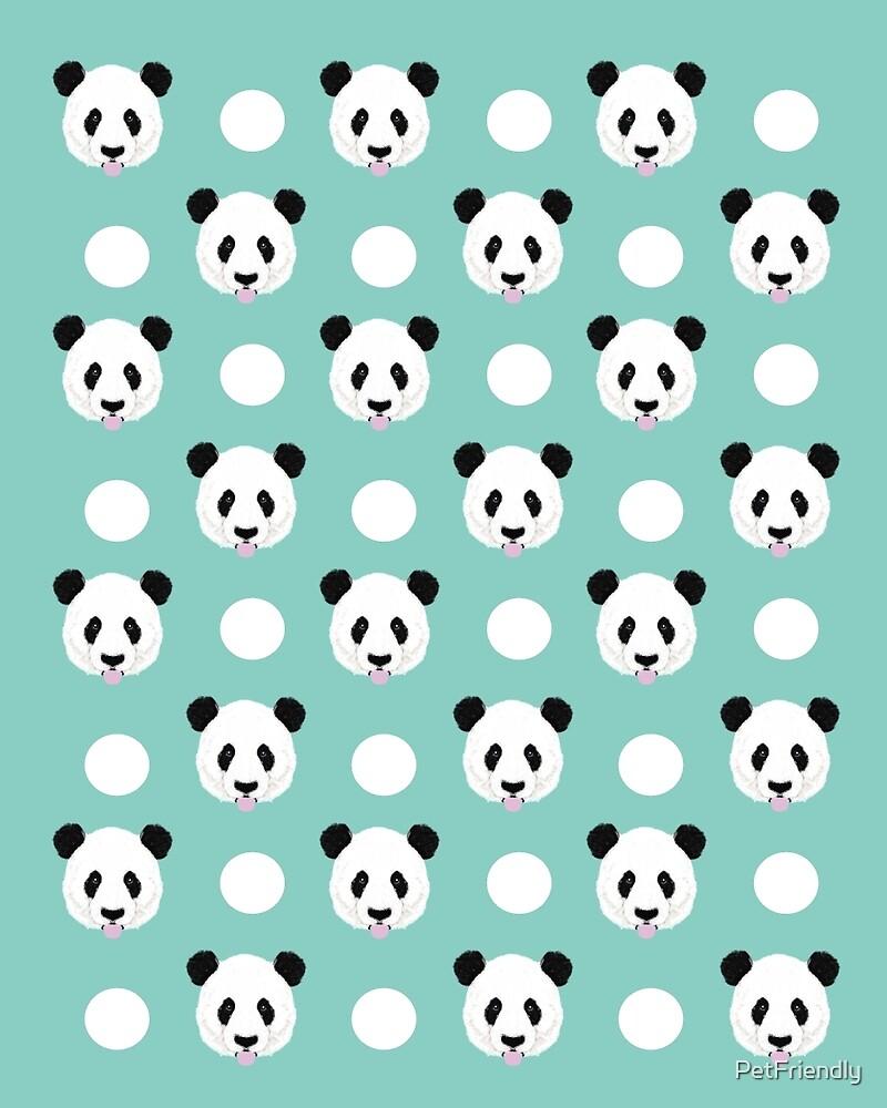 14766542 Panda Polka Dots Pattern Print Minimal Trendy Kids Design Pillow Cell Phone Cute Panda Cub Character on Pattern Blocks