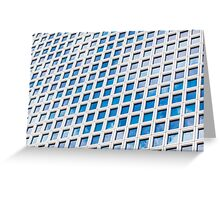 Windows of an office building form a pattern  Greeting Card