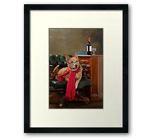 Ringo in the studio Framed Print