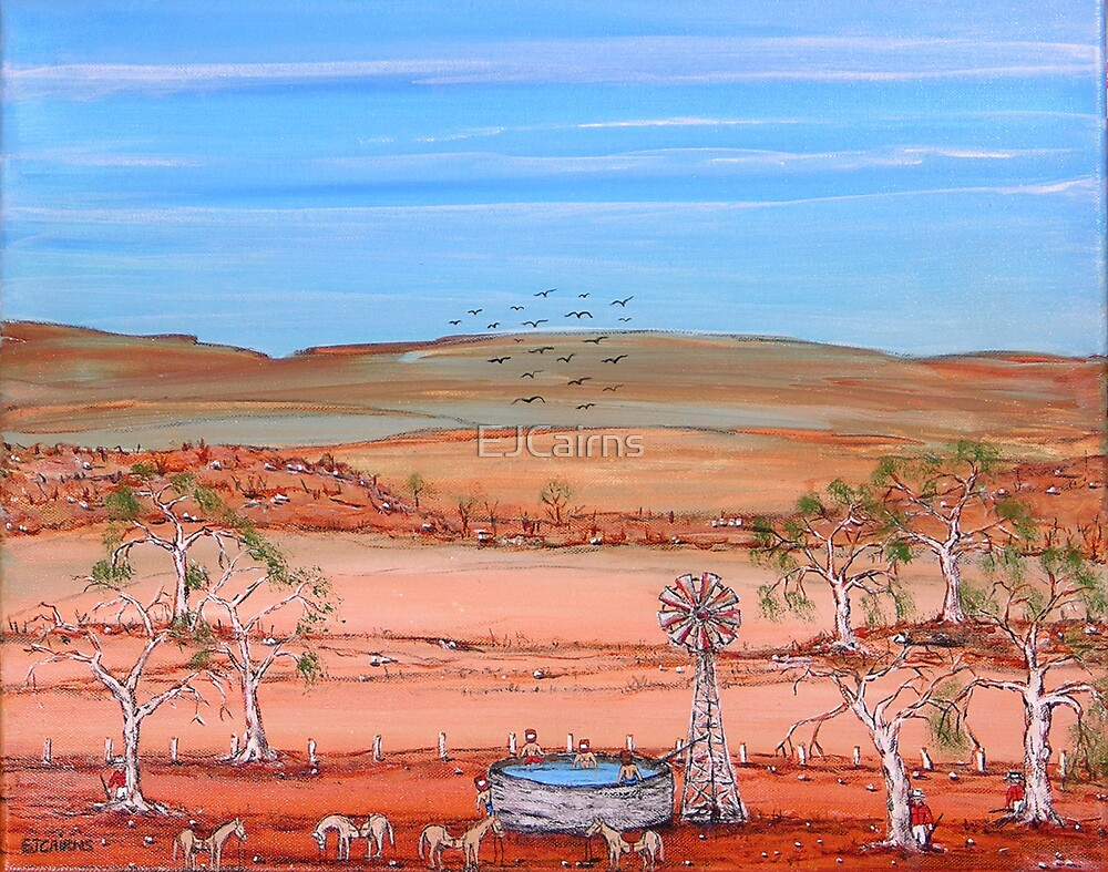 "Title; Ned Kelly ""Ned's Pool 2""  Australia, Original  Sold 21/June/09 by EJCairns"