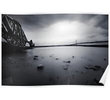 Forth Bridges B&W Poster