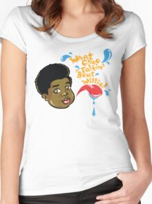 What Choo Talkin' 'Bout Willis! Women's Fitted Scoop T-Shirt