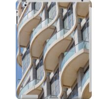 Balconies on a residential building form a repetitive pattern  iPad Case/Skin