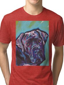 Neapolitan Mastiff Dog Bright colorful pop dog art Tri-blend T-Shirt