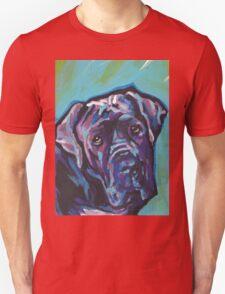 Neapolitan Mastiff Dog Bright colorful pop dog art Unisex T-Shirt