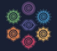 7 Chakras, Cosmic Energy Centers, Evolution, Meditation, Enlightenment by nitty-gritty