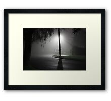 Mist Over Suburbia Framed Print