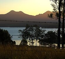 Sunset on Cunninghams Gap, The Great Dividing Range, Qld Aust. by Mark Batten-O'Donohoe