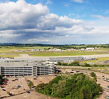 Edinburgh Airport Air Traffic View by Richard Hanley www.scotland-postcards.com