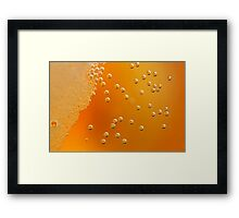 beer bubbles Framed Print