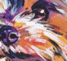 Yorkie Yorkshire Terrier Bright colorful pop dog art Sticker