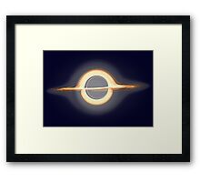 Black hole, Portal, Infinity, Universe, Outer Space, Star Framed Print