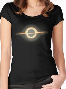 Black hole, Portal, Infinity, Universe, Outer Space, Star Women's Fitted Scoop T-Shirt