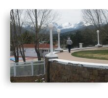My brother Robert walking the grounds of Stanley Hotel Park Canvas Print
