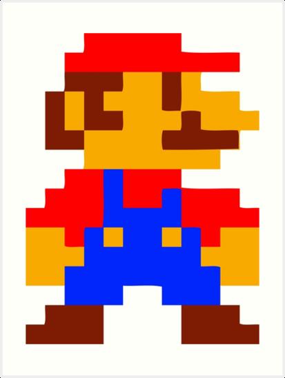Quot Super Mario Bros Pixel Quot Art Prints By Gustavinlavin
