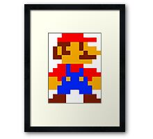 Super Mario Bros Pixel Framed Print