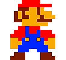 Super Mario Bros Pixel Photographic Print