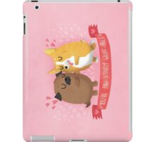 Paw-sitively Wuff-able Valentine's Day Card iPad Case/Skin